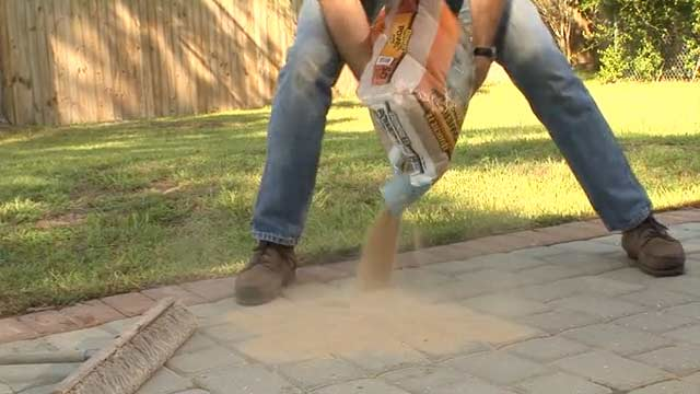 Filling Joints Patio Pavers - 1